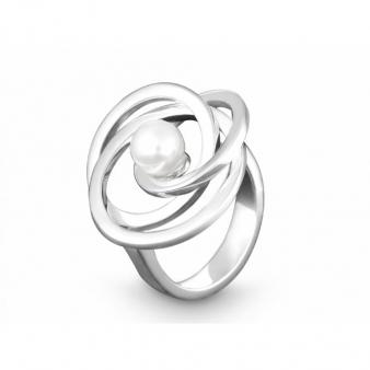"QUINN Ring ""Pearly Orbit"" mit Perle"