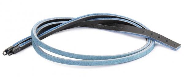 TROLLBEADS Leder-Armband 41 cm hellblau-grau TLEBR-00038